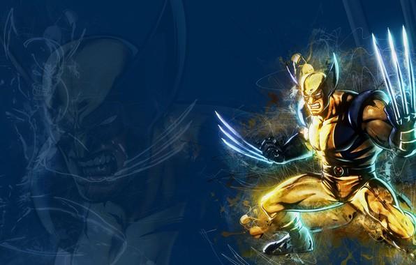 Picture fantasy, Wolverine, Marvel, comics, digital art, artwork, mask, superhero, fantasy art, claws, boulinosaure