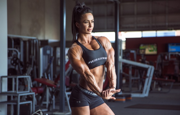 Picture model, pose, muscle mass, muscular toning, Female bodybuilder