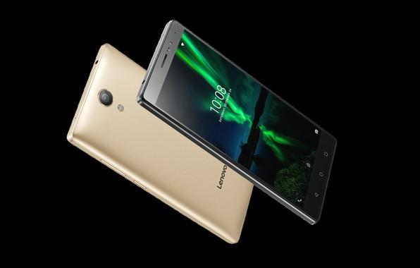 Picture gold, black, Lenovo, smartphones, Phab 2 Plus