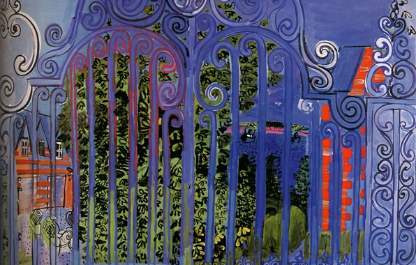 Picture New York, 1930, Grille, The Grid, Huile sur Toile, Collection Evelyn Sharp, Raoul Dufy The