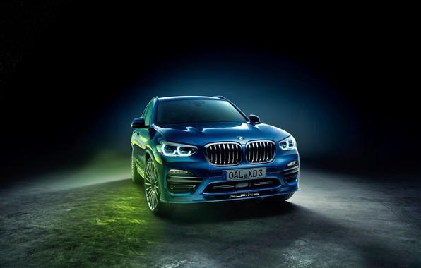 Photo wallpaper Alpina, BMW, background, black background, XD3, BMW, G01, All-wheel drive