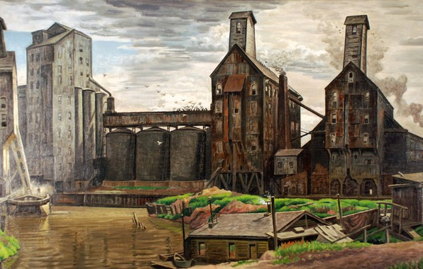 Picture Charles Ephraim Burchfield, 1932-38, Grain Elevators