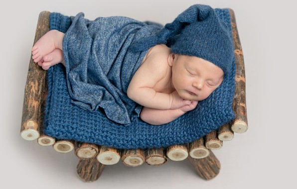Picture sleep, sleeping, plaid, cap, baby, boy, baby, baby
