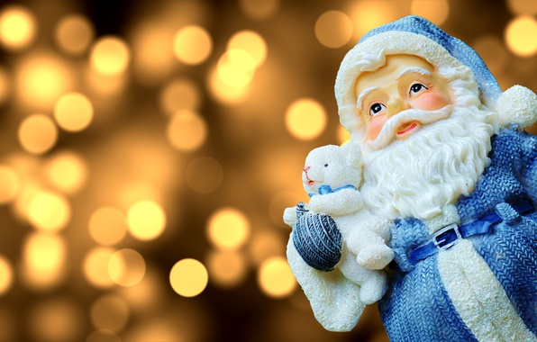 Picture holiday, new year, Christmas, Santa Claus, figure, bokeh