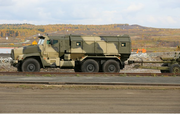 Picture military, weapon, army, armored, military vehicle, howitzer