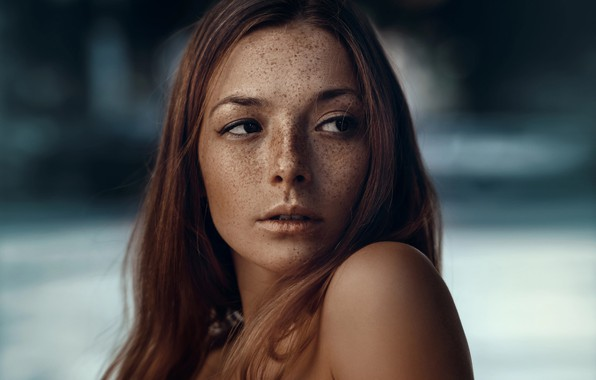 Picture look, girl, portrait, freckles, Olga, Paul For