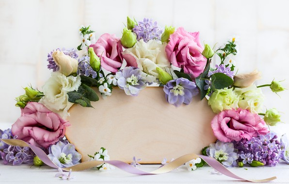 Picture flowers, roses, rose, wood, pink, flowers, beautiful, lilac, composition, lilac, frame, floral
