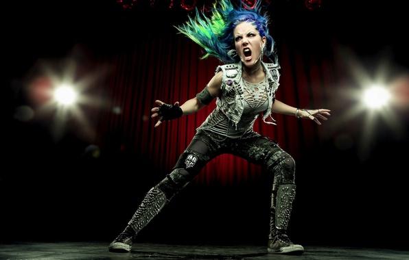 Picture singer, pose, Arch Enemy, Alissa White-Gluz