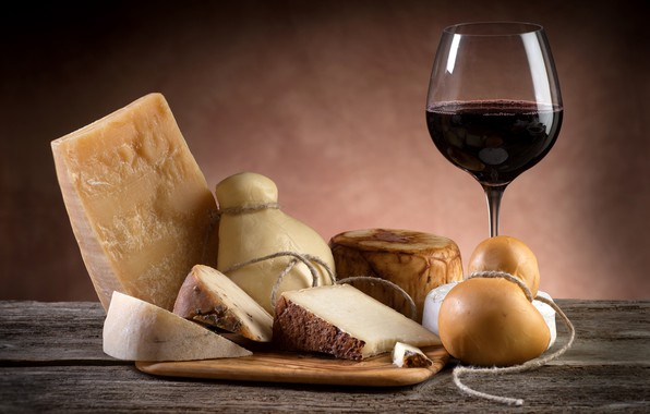 Picture wine, glass, cheese