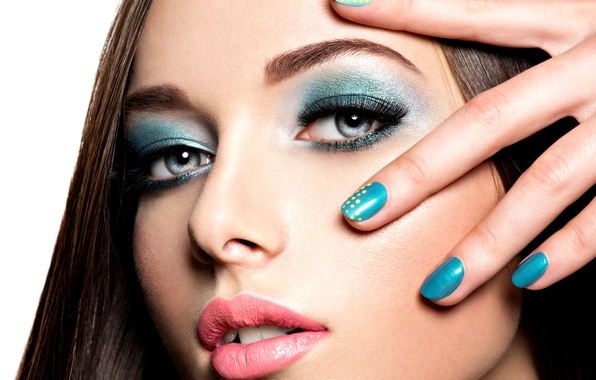 Picture look, hand, fingers, make up