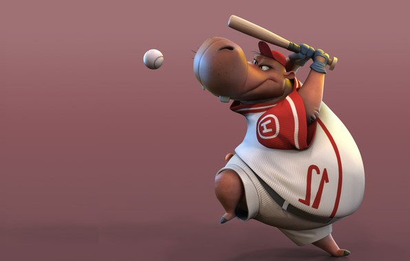 Picture the game, the ball, baseball, art, bit, children's, Hippo, Hipo, Arik Newman