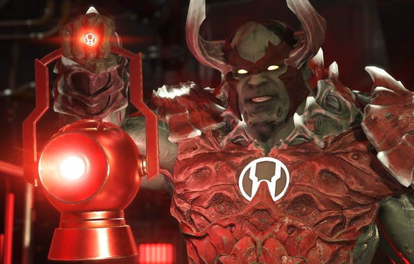 Picture red, game, rage, powerful, Red Lantern, NetherRealm Studios, red ring, Injustice 2, supervillain, Atrocitus, Red …