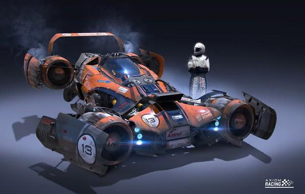 Picture pilot, car, Igor Sobolevsky, Axiom Jet Racer
