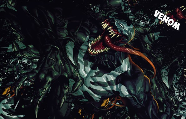 Picture Language, Teeth, Comic, Claws, Marvel, Comics, Venom, Venom, Symbiote, Marvel, Comics, Eddie Brock, Symbiote, Teeth, …