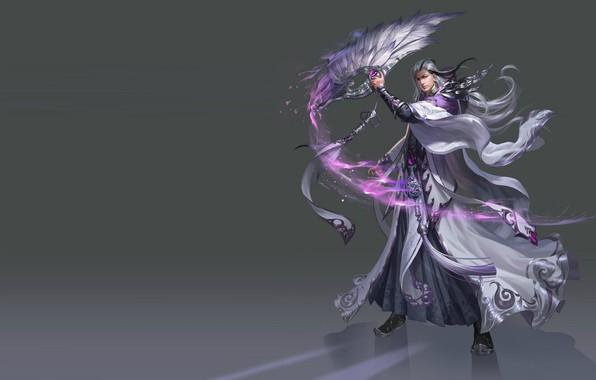Picture magic, fan, art, MAG, fantasy, game., level, skill, Skil, costume design, lvl