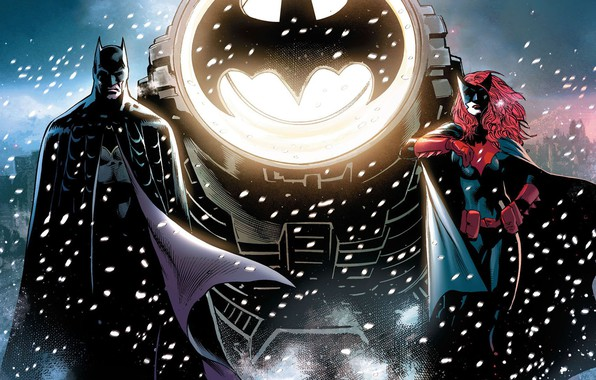 Picture Winter, Snow, Sign, Heroes, Batman, Costume, Bat, Mask, Comic, Heroes, Cloak, Superheroes, Spotlight, Red, Winter, …