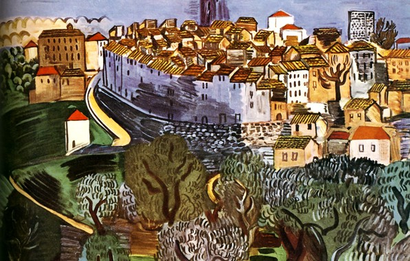 Picture 1923, Nice, Huile sur Toile, MusBe MassBna, Raoul Dufy Vence