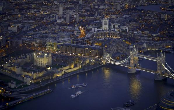 Photo wallpaper London, night, the city