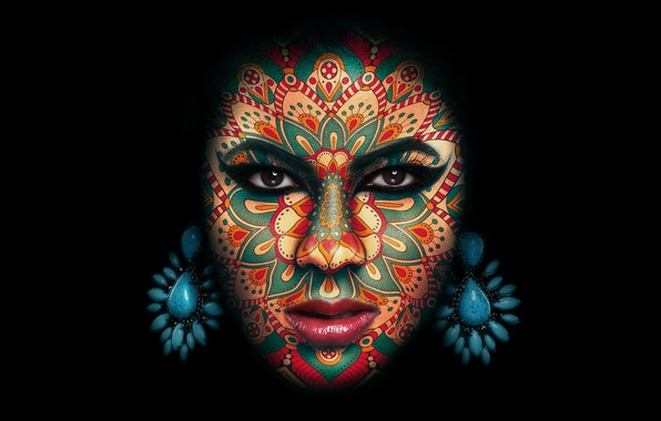 Picture decoration, background, makeup, makeup