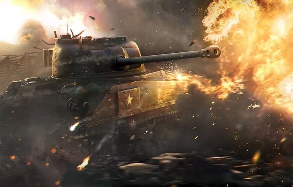 Picture WoT, World of Tanks, World Of Tanks, Wargaming Net, Sherman Firefly, M4 Sherman Firefly