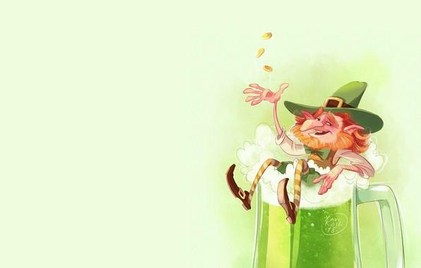 Picture figure, art, illustration, El, leprechaun, Victoria Kosheleva
