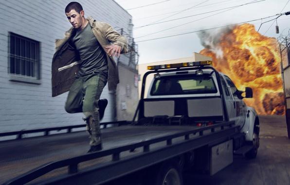 Photo wallpaper machine, the explosion, fire, fire, street, home, Complex, Nick Jonas, Nick Jonas, Gavin Bond