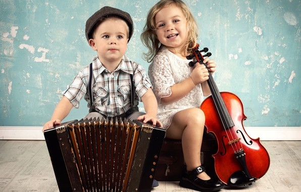 Picture children, music, violin, boy, music, cello, girl, instrumento, girl, boy, accordion, violin, cello, children, tools, …