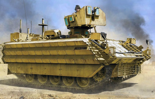 Picture Bulldog, Mk.3, FV432, limited use in the war against Iraq, British armored personnel carrier