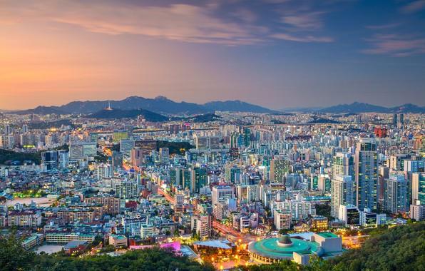 Picture panorama, South Korea, Seoul, Seoul, The Republic Of Korea