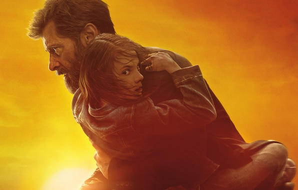 Picture the sky, the sun, background, fiction, glow, Wolverine, Logan, action, poster, Wolverine, Hugh Jackman, Logan, ...