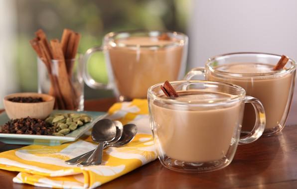 Picture coffee, cinnamon, latte