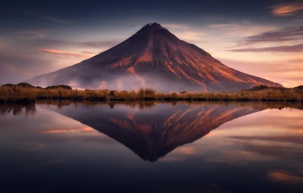 Picture reflection, the volcano, Taranaki