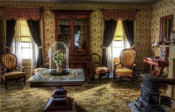 Picture retro, interior, living room, historical, Victorian, antique