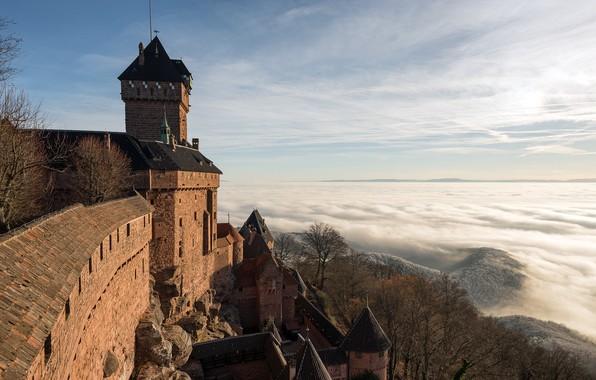 Picture France, Alsace, Castle of Haut-Koenigsbourg