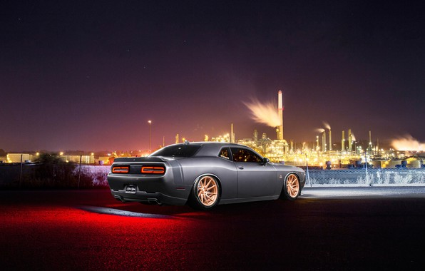 Picture Dodge, Challenger, Car, Rear, Avant Garde Wheels