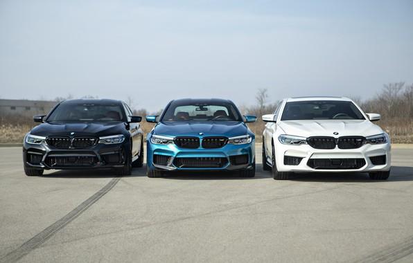 Picture BMW, Blue, Black, White, Trio, Sight, LED, F90