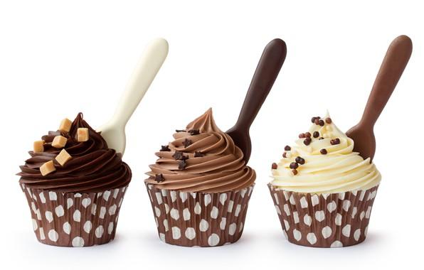 Picture cream, dessert, cakes, cup, chocolate, cupcakes, cakes, chocolate