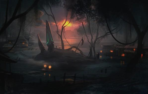 Picture island, Swamp Rune, whitehex swamp environment