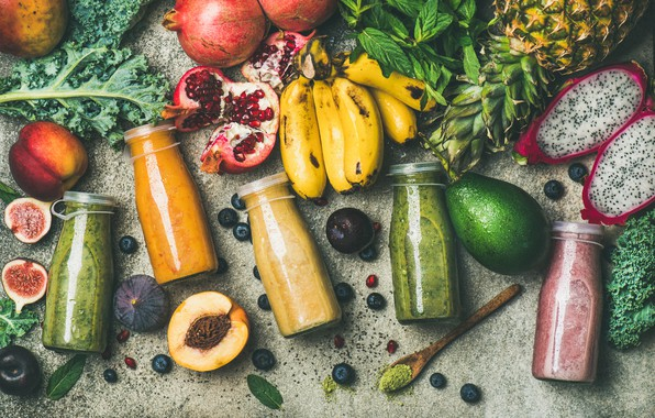 Picture berries, fruit, drinks, vegetables, fresh, smoothies