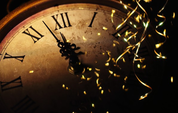 Picture the rain, holiday, watch, New year, new year, midnight, holiday, watch, old watch