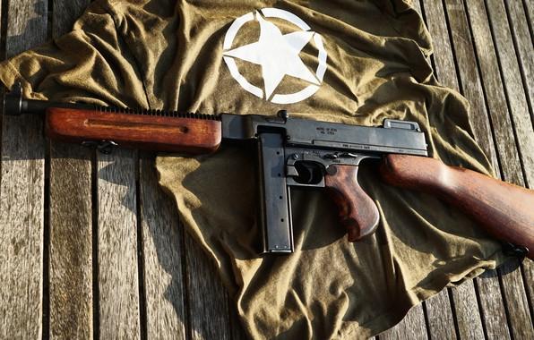 Picture background, USA, The gun, Thompson