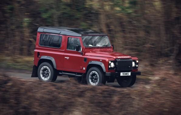Picture red, movement, vegetation, SUV, Land Rover, 2018, Defender, V8, Defender Works V8, jubilee spezzare