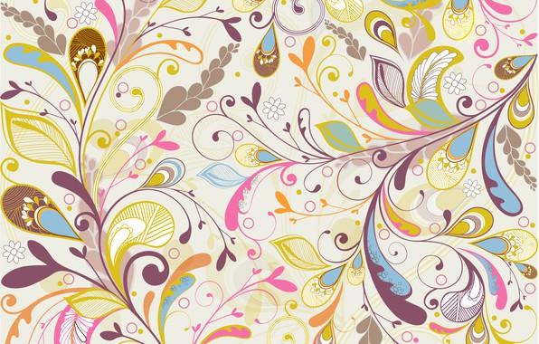 Picture flowers, texture, background, floral, Multicolor