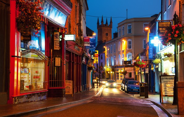Picture road, the city, excerpt, blur, Ireland, bokeh, Ireland, view, travel, wallpaper., my planet, home lighting, …