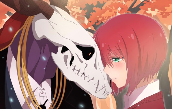 Picture girl, skull, anime, art, Mahou Tsukai no Yome, The Ancient Magus' Bride, Bride of the …