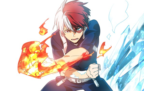 Photo wallpaper art, guy, Boku no Hero Academy, My hero Academy, Todoroki Shoto