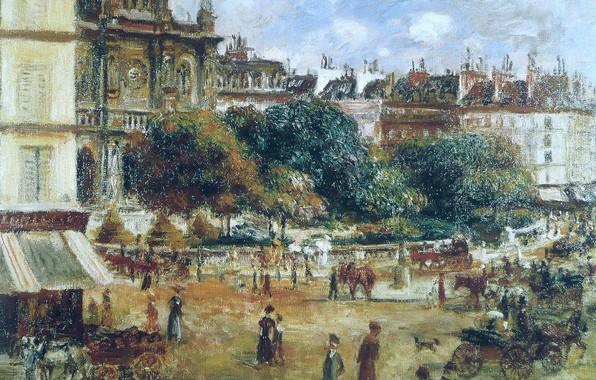 Picture picture, the urban landscape, Pierre Auguste Renoir, Pierre Auguste Renoir, The place de La trinité. …