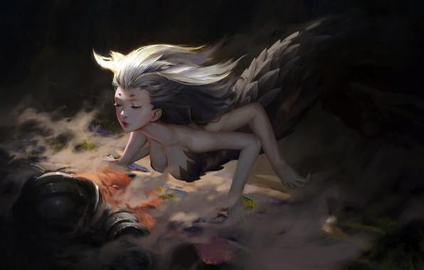 Picture girl, fantasy, cleavage, armor, underwater, painting, digital art, Mermaid, artwork, situation, fantasy art, creature, pearls, …