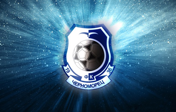 Picture Black, Blue, Sport, Light, Logo, Football, Background, Logo, Coat of arms, Club, Odessa, Chernomorets, 1936, …