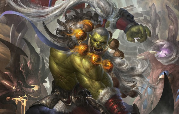 Picture fantasy, art, Orc, fragment, The trial of the blade, Nan Xiang